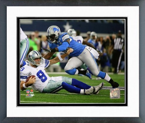 Detroit Lions Tahir Whitehead Playoff Action Framed Photo