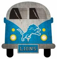 Detroit Lions Team Bus Sign