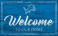 Detroit Lions Team Color Welcome Sign