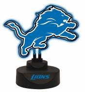 Detroit Lions Team Logo Neon Light