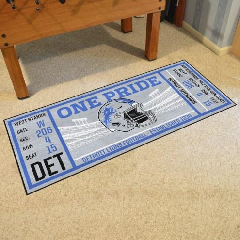 Detroit Lions Ticket Runner Rug