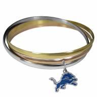 Detroit Lions Tri-color Bangle Bracelet
