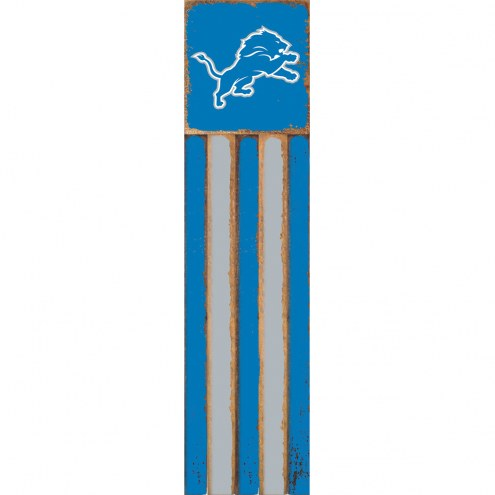 Detroit Lions Vertical Flag Wall Sign