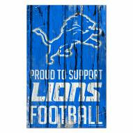 Detroit Lions Proud to Support Wood Sign