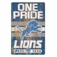 Detroit Lions Slogan Wood Sign