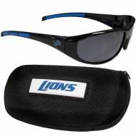 Detroit Lions Wrap Sunglasses and Case Set