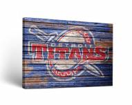 Detroit Mercy Titans Weathered Canvas Wall Art