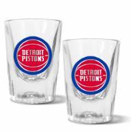 Detroit Pistons 2 oz. Prism Shot Glass Set