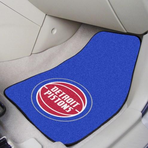 Detroit Pistons 2-Piece Carpet Car Mats
