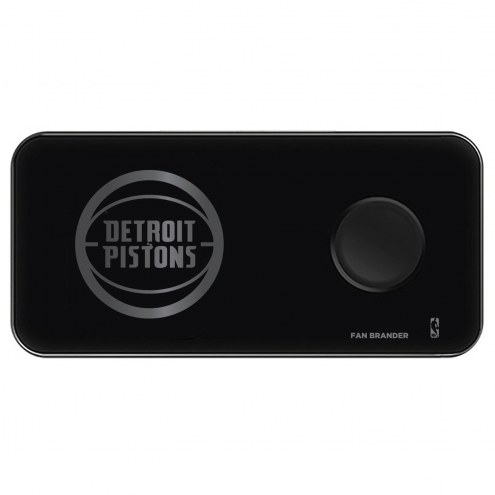 Detroit Pistons 3 in 1 Glass Wireless Charge Pad