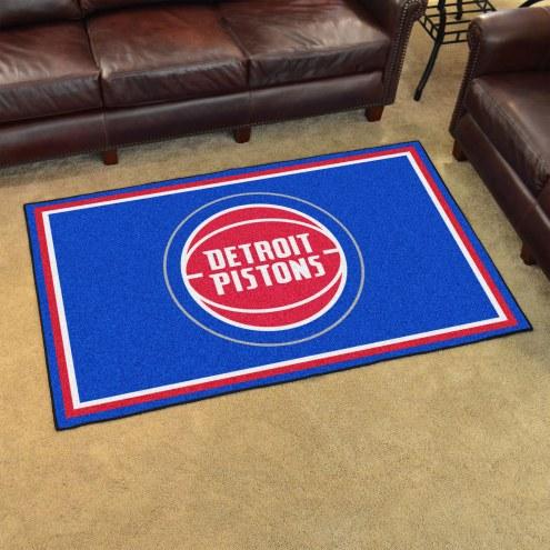 Detroit Pistons 4' x 6' Area Rug