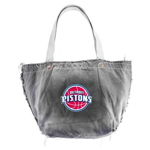 Detroit Pistons Black NBA Vintage Tote Bag