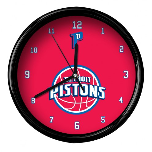 Detroit Pistons Black Rim Clock