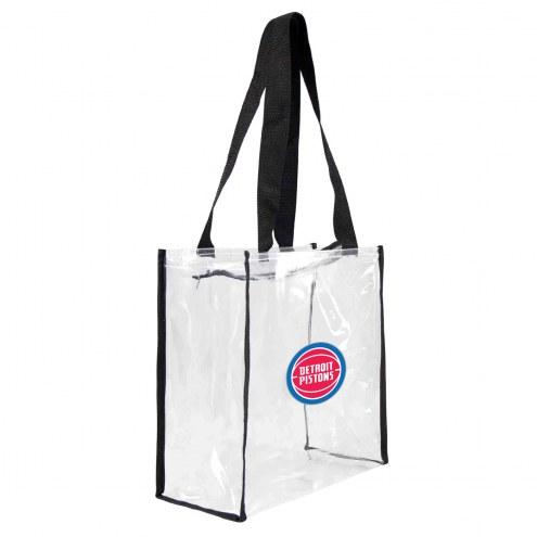 Detroit Pistons Clear Square Stadium Tote