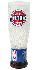 Detroit Pistons Crystal Pilsner Glass