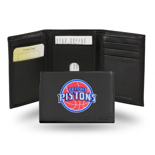 Detroit Pistons Embroidered Leather Tri-Fold Wallet