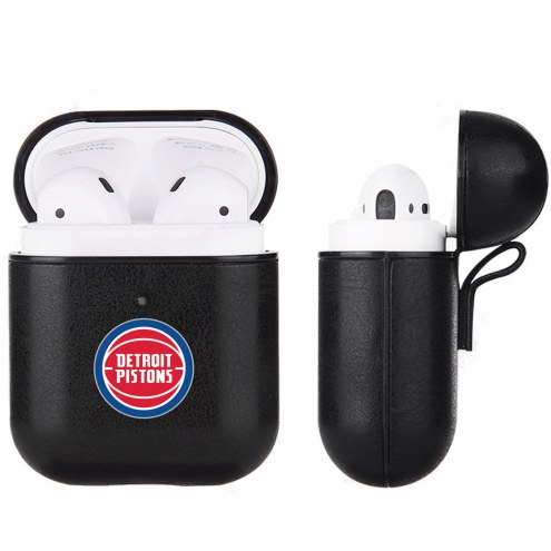 Detroit Pistons Fan Brander Apple Air Pods Leather Case