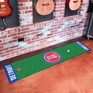 Detroit Pistons Golf Putting Green Mat