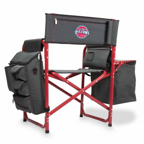 Detroit Pistons Gray/Red Fusion Folding Chair
