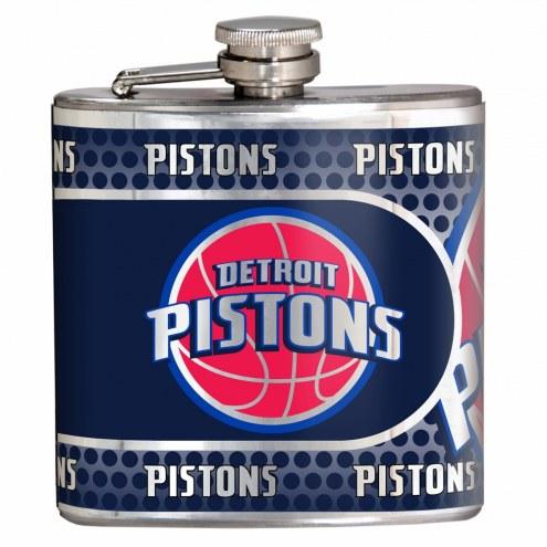 Detroit Pistons Hi-Def Stainless Steel Flask