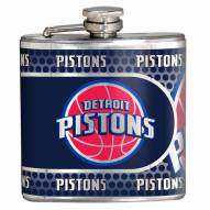 Detroit Pistons Hi-Def Stainless Steel Flask