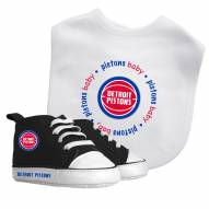 Detroit Pistons Infant Bib & Shoes Gift Set