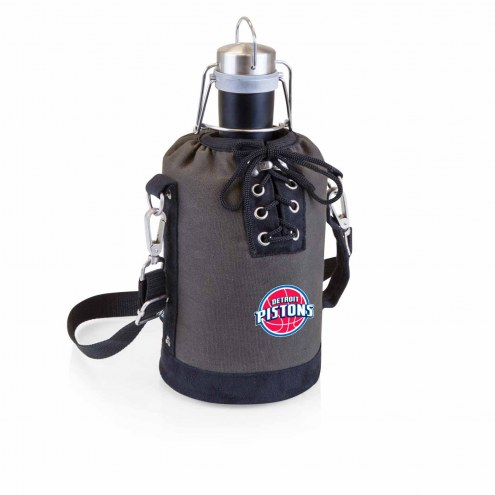 Detroit Pistons Insulated Growler Tote with 64 oz. Stainless Steel Growler