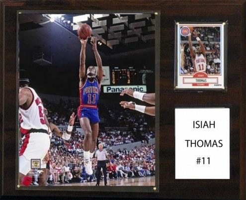 "Detroit Pistons Isiah Thomas 12"" x 15"" Player Plaque"
