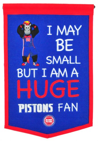 Detroit Pistons Lil Fan Traditions Banner