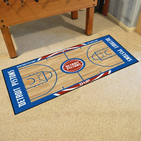 Detroit Pistons NBA Court Large Runner