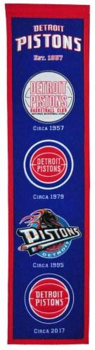 Detroit Pistons NBA Heritage Banner