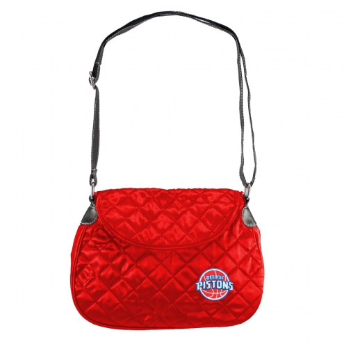 Detroit Pistons NBA Quilted Saddle Bag