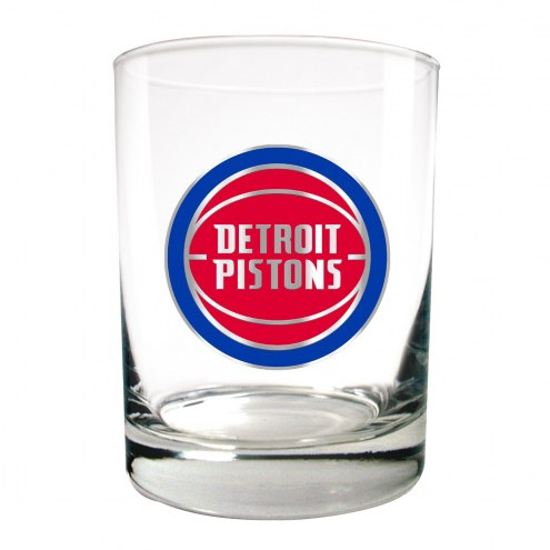 Detroit Pistons NBA 2-Piece 14 Oz. Rocks Glass Set