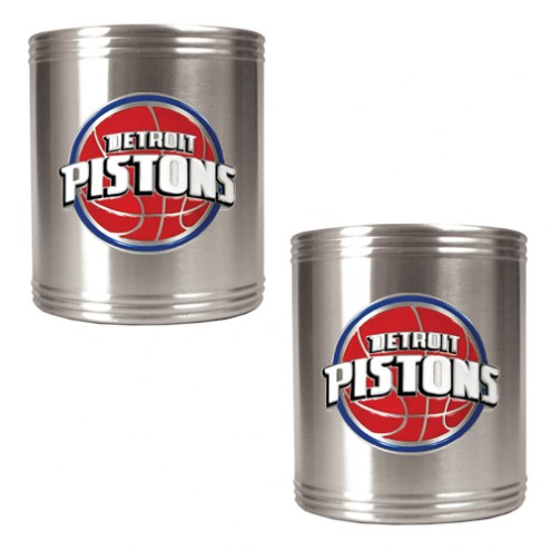 Detroit Pistons NBA Stainless Steel Can Holder 2-Piece Set