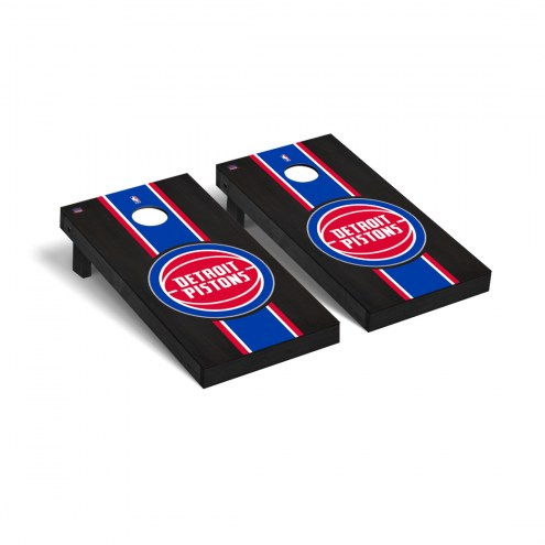 Detroit Pistons Onyx Stained Cornhole Game Set