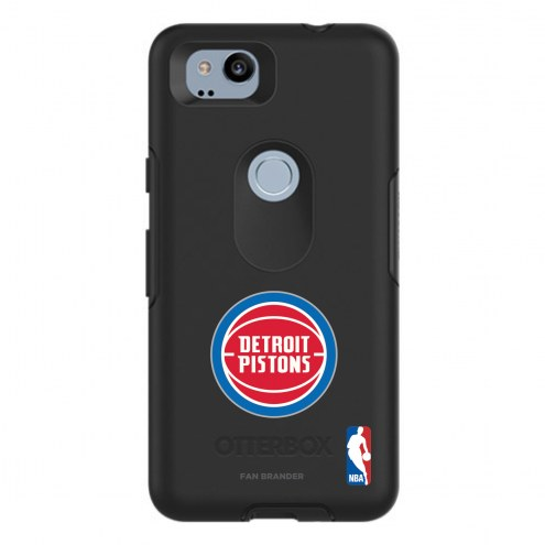 Detroit Pistons OtterBox Google Pixel 2 Symmetry Black Case