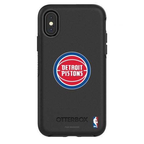 Detroit Pistons OtterBox iPhone X/Xs Symmetry Black Case