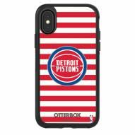 Detroit Pistons OtterBox iPhone X/Xs Symmetry Stripes Case