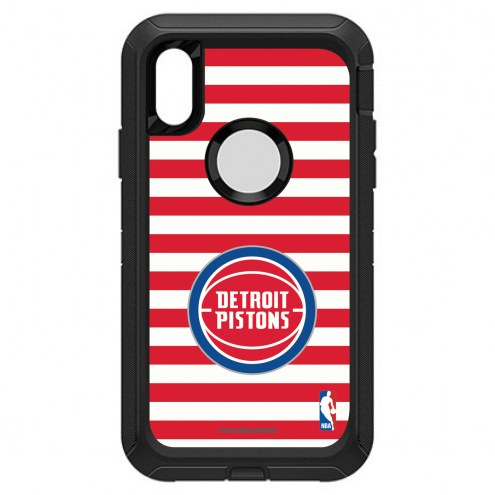 Detroit Pistons OtterBox iPhone XR Defender Stripes Case
