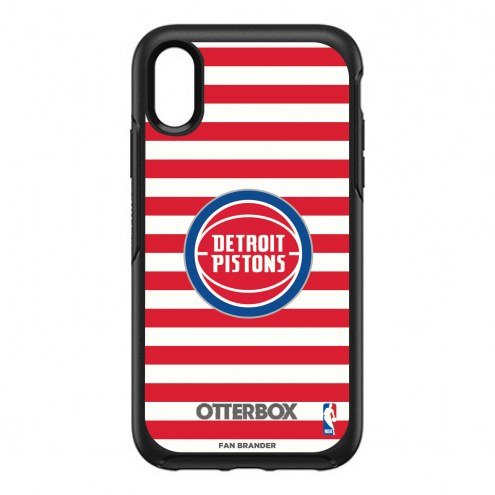 Detroit Pistons OtterBox iPhone XR Symmetry Stripes Case
