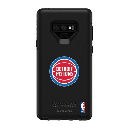 Detroit Pistons OtterBox Samsung Galaxy Note9 Symmetry Black Case