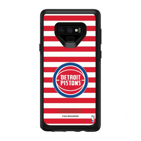 Detroit Pistons OtterBox Samsung Galaxy Note9 Symmetry Stripes Case