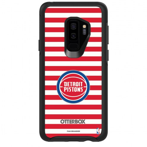 Detroit Pistons OtterBox Samsung Galaxy S9+ Symmetry Stripes Case