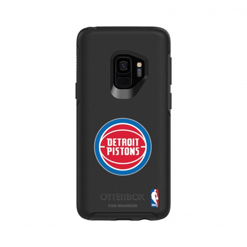 Detroit Pistons OtterBox Samsung Galaxy S9 Symmetry Black Case