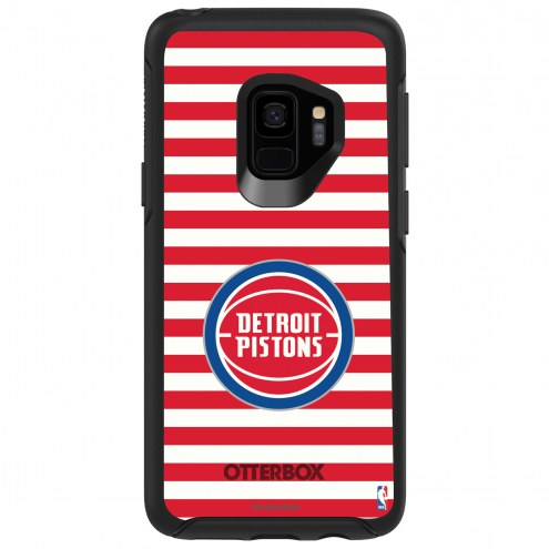Detroit Pistons OtterBox Samsung Galaxy S9 Symmetry Stripes Case