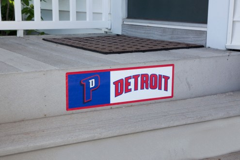 Detroit Pistons Outdoor Step Graphic