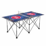 Detroit Pistons Pop Up 6' Ping Pong Table