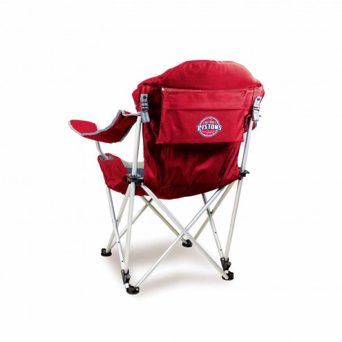 Detroit Pistons Red Reclining Camp Chair