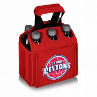 Detroit Pistons Red Six Pack Cooler Tote