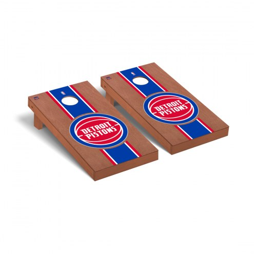 Detroit Pistons Rosewood Stained Cornhole Game Set
